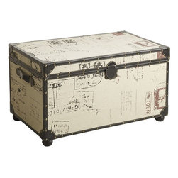 Rhodes Trunk - I wish my mother had sent me off to school with a pretty trunk like this. It would make an utterly adorable addition to any dorm room.