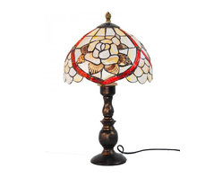 ParrotUncle - Sea Shell Flower Tiffany Style Table Lamp - The Tiffany Lighting fixture has been a staple in interior design since the late 1800s and is still as fashionable today. As a part of the Art Nouveau movement,this Sea Shell Tiffany Style Table Lamp are a fabulous choice especially if your decor is vintage inspired or Victorian. Made up of several pieces of stained glass, these are timeless light fixtures that will never go out of style.