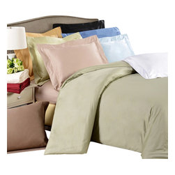 Bed Linens - Egyptian Cotton 650 Thread Count Solid Duvet Cover Sets Full/Queen Linen - 650 Thread Count Solid Duvet Cover Sets