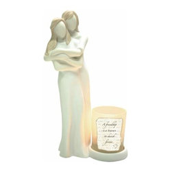 WL - 2 Souls Tea Light Candle Holder with Man and Wife Embracing Each Other - This gorgeous 2 Souls Tea Light Candle Holder with Man and Wife Embracing Each Other has the finest details and highest quality you will find anywhere! 2 Souls Tea Light Candle Holder with Man and Wife Embracing Each Other is truly remarkable.