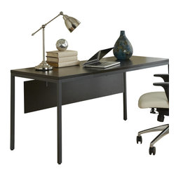 """Jesper Office Furniture - Parsons Edition 63"""" Writing Desk with Modesty Panel in Espress... - Features:"""