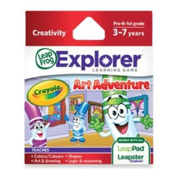 Leap Frog - LeapFrog Explorer Art Adventure Learning Game - Explore a creative world filled with art and music with the LeapFrog Explorer Art Adventure game! Your children will use their artistic and critical thinking skills to help the Pip Squeaks solve puzzling art mysteries.