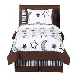 Sweet Jojo Designs - Starry Night 3-Piece Queen Bedding Set by Sweet Jojo Designs - The Starry Night 3-Piece Queen Bedding Set by Sweet Jojo Designs, along with the bedding accessories.