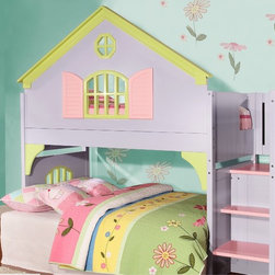 Twin-size Doll House Stair Step Loft -