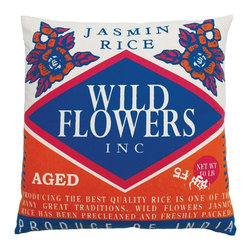 """Koko Rice Pillows 20"""" x 20"""" Wild Flower - The Rice Pillow Collection flaunts a curious air with its unique Indian-inspired rice sack designs Relax. All products by The Koko Company reflect their love for natural fabrics, and the manufacturing is closely monitored to ensure fair wages and compliance with strict social and environmental standards. Made out of cotton."""