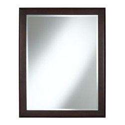 Vernon Espresso Wood Modern 27-Inch-W Sink Mirror -