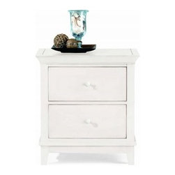 """American Drew 181-420W Drawer Night Stand - White Sterling Pointe - Drawer Night Stand - White - American Drew Sterling Pointe Collection 181-420WFeatures:2 DrawersThis Price Includes:Drawer Night Stand - WhiteItem:Weight:Dimensions:Drawer Night Stand - White66 lbs26"""" W X 17"""" D X 28"""" HManufacturer's Materials:Maple and Hardwood SolidsMaple & Poplar Veneers & Simulated Wood Components"""