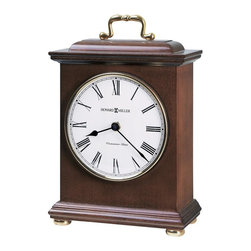 HOWARD MILLER - Tara Mantel Clock with Quartz, Battery-operated Single Chime Westminster Movemen - Decorative brass-finished handle, polished brass finished bezel, and turned, polished brass bun feet.