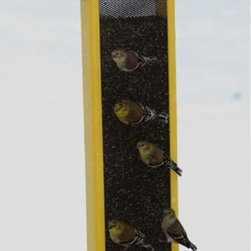 Fifthroom - 3 Quart Finch Feeder - Finches are beautiful song birds that prefer long, narrow feeders.  Attract goldfinches, house finches, pine siskins and more with this durable bird feeder.  Constructed with 100% recycled plastic, this eco-product will ensure that wide species of birds have a safe habitat for generations.