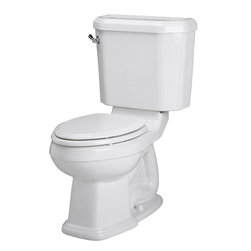 "American Standard - American Standard 2733.014.020 Portsmouth Townsend Champion 4 Toilet, White - American Standard 2733.014.020 Portsmouth Townsend Champion 4 Right Height Elongated Toilet, White. This elongated champion combination bowl/tank toilet (less seat) features a vitreous china construction, an EverClean surface to inhibit the growth of bacteria, mildew, and mold, a 4"" piston action and Accelerator flush valve, a 2-3/8"" fully-glazed trapway, a siphon action bowl, a sweeping peir on the bowl, 2 color-matched bolts, and a Speed Connect tank/bowl coupling system for a quick, easy installation."