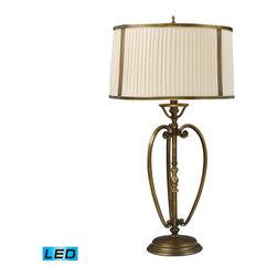 Dimond Lighting - Dimond Lighting Williamsport 11053/1-LED Table Lamp in Vintage Brass Patina - 11053/1-LED Table Lamp in Vintage Brass Patina belongs to Williamsport Collection by Dimond Lighting Table Lamp (1)