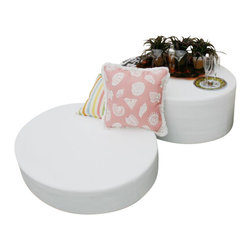 Home Infatuation - Note and Footnote Table and Ottoman, Footnote - The versatile, modern design of the patented Note and Footnote allows them to function as a floor pillow, an ottoman or a casual table.