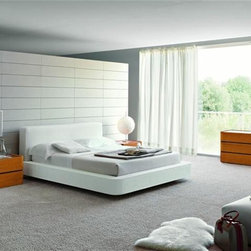Made in Italy Quality High End Contemporary Furniture - Modern Italian cherry bedroom set with white bed. If you need to customize this product, please see the current options on official website.