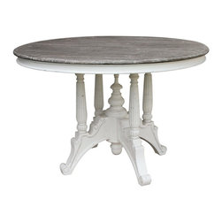 EuroLux Home - New Dining Table White/Cream Painted - Product Details