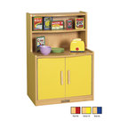 Ecr4kids - Ecr4Kids Indoor Home Colorful Essentials Kids Fun Play Kitchen Cupboard Blue - This toddler-sized play cupboard an easy-to-clean surface, built to endure endless hours of play. Doors have magnetic latches and full-length continuous piano hinges and rounded edges for safety. Encourages dramatic play and social interaction in the classroom or home. Available in a warm maple laminate with primary colored accents that match all items in the Colorful Essentials product line.