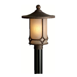 Kichler - Kichler 9975AGZ 1 Light Post Light from the Chicago Collection - Kichler 9975 Chicago Outdoor Post Lantern