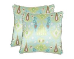 Safavieh - Stella Accent Pillow  - Blue,Green - Stella Accent Pillow  - Blue,Green