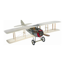"Authentic Models - Transparent Spad Model Airplane - This Authentic Model Spad Transparent airplane is an impressive replica of one of the best flying aircraft to see action during WWI.This model features detailed engine covers, hand fitted spoke wheels, and laminated rotating wood propellers to create a sturdy yet intricate one a kind piece. Dimensions: 30""L x 23.5"" W x 23"" H."