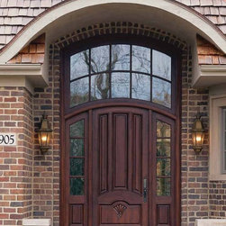 Jeld-Wen 2905 Entry System w 465 Mahogany Arch Top Door ...
