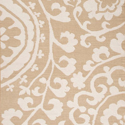Jaipur Rugs - Flat-Weave Durable Wool Taupe/Ivory Area Rug - An array of simple flat weave designs in 100% wool - from simple modern geometrics to stripes and Ikats. Colors look modern and fresh and very contemporary. Origin: India