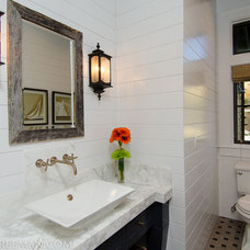 Traditional Powder Room by JPID Construction & Design LLC
