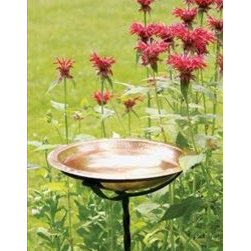 Achla - Hammered Copper Bowl - Hammered Copper Bowl with Rim. A perfect fit with the birdbath hanging ring. Does not include cradle must order separately (cradle is part ACHLABBC01). Outside dim of the bowl is 13 inches the inside of the lip dim is 10 inches.