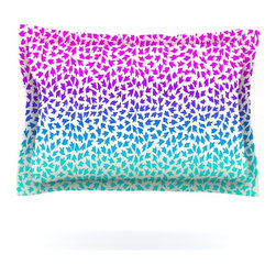 "Kess InHouse - Sreetama Ray ""Ombre Arrows"" Blue Pink Pillow Sham (Cotton, 30"" x 20"") - Pairing your already chic duvet cover with playful pillow shams is the perfect way to tie your bedroom together. There are endless possibilities to feed your artistic palette with these imaginative pillow shams. It will looks so elegant you won't want ruin the masterpiece you have created when you go to bed. Not only are these pillow shams nice to look at they are also made from a high quality cotton blend. They are so soft that they will elevate your sleep up to level that is beyond Cloud 9. We always print our goods with the highest quality printing process in order to maintain the integrity of the art that you are adeptly displaying. This means that you won't have to worry about your art fading or your sham loosing it's freshness."