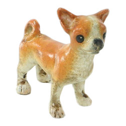 HomArt - Cast Iron Nacho the Chihuahua Sculpture - Decorate your home with the Cast Iron Nacho the Chihuahua Sculpture. The small dog sculpture is finished in antique white with light brown accents. Set it atop a desk or bookshelf for a bold, quirky look.