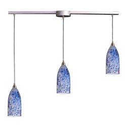 ELK - ELK 502-3L-BL Pendant - Individuality Is What Defines This Exquisite Line Of Hand Blown Glass. Each Piece Is Meticulously Hand Blown With Up To Three Layers Of Uncompromising Beauty And Style.