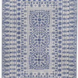 Surya - Surya Smithsonian SMI-2113 (Ivory, Navy) 5' x 8' Rug - Surya has collaborated with the world's largest and most prestigious museum to develop its Smithsonian Collection. The exclusive compilation is comprised of 12 hand-tufted rugs made in India of 100% New Zealand wool. Each piece within this first-class collection was inspired by artifacts found within the Smithsonian's vast archives. The rugs represent a variety of cultures and historical provenances including 19th century studies of ornamental and decorative designs from Egypt, China and the Middle Ages, 18th-19th century French wall coverings, and 19th century American textiles.