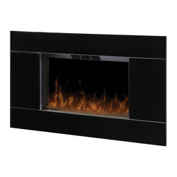None - Dimplex DWF-5328B3A Wall Mount Electric Flame Fireplace-Gloss Black - From the high gloss black front to the stainless steel accent,this wall-mount provides contemporary appeal. The realistic flame affect completes the overall simplicity of this stunning design.
