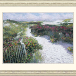 Amanti Art - Revisited Again and Again Framed Print by Greg Singley - Decorate with this bright, sunny seascape and bring an air of coastal beauty to any room. Rich with color and vibrant detail, this work of art is the perfect choice for the lover of travel and faraway lands.
