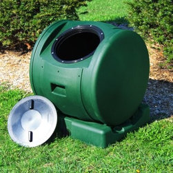 """Enviro Tumbler 49-Gallon Resin Compost Tumbler - Get a start on creating """"black gold"""" for you garden with a composter. This one is easy to spin and has a drain for you to pour off the """"compost tea"""" to use in your garden and plants."""