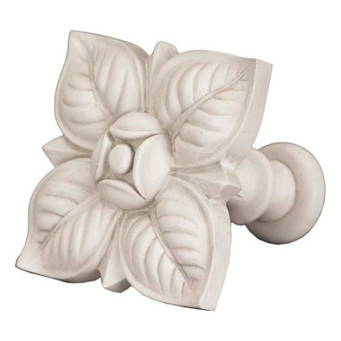 The Merchant Source - Top Treatment/Tieback - Petals (Aged White) - Finish: Aged White. Made of Resin. 3.5 in. return. 5.5 in. L x 6.5 in. W (3 lbs.)