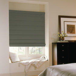 Comfortex - Comfortex Envision Roman Shades: Shantung - Envision Shantung Roman Shades are the roman shades that combine sophistication and style in one.  Shantung is a sheer fabric featuring the look of Dupioni silk with horizontal slubs and nubs.