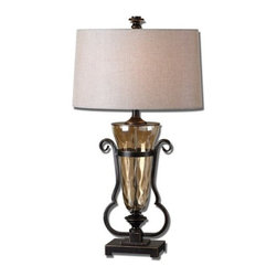 Uttermost - Uttermost 26594 Aemiliana Table Lamp with Round Shade - Features: