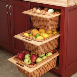 KITCHEN WICKER BASKET CABINET - Call us for an estimate!
