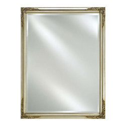Afina - Estate Beveled Wall Mirror in Antique Silver Finish (Small) - Choose Size: Small. Rectangular shape. Can be hung vertically or horizontally. 1 in. frame thickness. Clean with mild soap and water. Distinctive wood frame. Warranty: One year. Molding width: 1.25 in.. Small: 16 in. W x 22 in. H. Medium: 16 in. W x 26 in. H. Large: 20 in. W x 26 in. H. Extra large: 24 in. W x 30 in. H