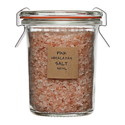 Pink Himalayan Salt - The perfect hostess gift. Pink himalayan salt for the cooking-savvy host or for the homeowner who likes pretty things sititng in their pantry.