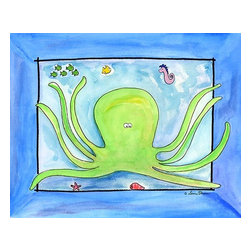 Oh How Cute Kids by Serena Bowman - Googly Eyed Octopus, Ready To Hang Canvas Kid's Wall Decor, 11 X 14 - Each kid is unique in his/her own way, so why shouldn't their wall decor be as well! With our extensive selection of canvas wall art for kids, from princesses to spaceships, from cowboys to traveling girls, we'll help you find that perfect piece for your special one.  Or you can fill the entire room with our imaginative art; every canvas is part of a coordinated series, an easy way to provide a complete and unified look for any room.