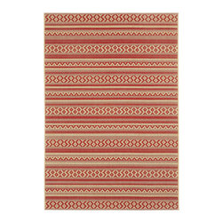 "Capel - Capel Rug, Cayenne, 5' 3"" x7' 6"" - The Finesse collection offers new olefin, indoor/outdoor, two-tone designed rugs from Capel."