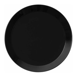 Iittala - Teema Salad Plate, Black - Classic ceramic salad plates never go out of style. This modern take on the plate would be a lovely addition to any home. A set of these would be the perfect housewarming gift for a young couple just building a life together.