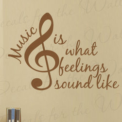 Decals for the Wall - Wall Decal Quote Vinyl Sticker Art Graphic Music is What Feelings Sound Like S26 - This decal says ''Music is what feelings sound like''