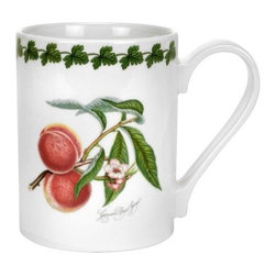 Portmeirion Pomona Classics Tankard/Coffee Mug - Set of 6 - About PortmeirionStrikingly beautiful, eminently practical, refreshingly affordable. These are the enduring values bequeathed to Portmeirion by its legendary co-founder and designer, Susan Williams-Ellis. Her father, architect Sir Clough Williams-Ellis, was the designer of Portmeirion, the North Wales village whose fanciful architecture has drawn tourists and artists from around the world (including the creators of the classic 1960s TV show The Prisoner). Inspired by her fine arts training and creation of ceramic gifts for the village's gift shop, Susan Williams-Ellis (along with her husband Euan Cooper-Willis) founded Portmeirion Pottery in 1960. After 50+ years of innovation, the Portmeirion Group is not only an icon of British design, but also a testament to the extraordinarily creative life of Susan Williams-Ellis.The style of Portmeirion dinnerware and serveware is marked by a passion for both pottery manufacturing and trend-setting design. Beautiful, tactile, nature-inspired patterns are a defining quality of Portmeirion housewares, from its world-renowned botanical designs modeled on antiquarian books to the breezy, natural colors of its porcelain and earthenware. Today, the Portmeirion Group's design legacy continues to evolve, through iconic brands such as Spode, the Pomona Classics collection, and the award-winning collaboration of Sophie Conran for Portmeirion. Pomona for Portmeirion:Classical in both its inspiration and its style, the Pomona Collection from Portmeirion Group is a garden of earthly delights. Named for the ancient Roman goddess of fruit and abundance, its lifelike patterns and fruit motifs are inspired by a collection of early 19th-century books of hand-colored botanical drawings. The Pomona Collection was introduced in 1982 by legendary designer and Portmeirion co-founder Susan Williams-Ellis, whose iconic garden- and botanical-themed designs are still among the world's most popu