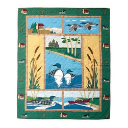 Patch Quilts - Loon Twin Quilt - -Constructed of 100% Cotton  -Machine washable; gentle dry  -Made in India Patch Quilts - QTLOON