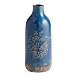 Cyan Design - Cyan Design 06401 Blue Glaze Medium Garden Grove Vase - Cyan Design 06401 Blue Glaze Medium Garden Grove Vase