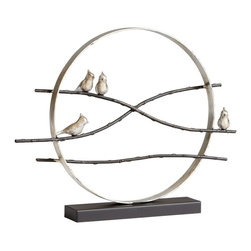 """Cyan Design - Cardinal Limb Sculpture by Cyan Designs - Here birdy birdy... this modern perch statue is such a pleasant accent. The Cardinal Limb Sculpture consist of two finishes: Old World and antiqued Flemish. The simple design is interesting yet understated. (CY) 28"""" wide x 21.5"""" high"""