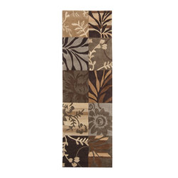 """Surya - Transitional Cosmopolitan Hallway Runner 2'6""""x8' Runner Brown-Tan  Area Rug - The Cosmopolitan area rug Collection offers an affordable assortment of Transitional stylings. Cosmopolitan features a blend of natural Brown-Tan  color. Hand Tufted of 100% Polyester the Cosmopolitan Collection is an intriguing compliment to any decor."""