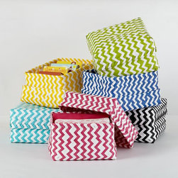 Large Zigzag Strapping Baskets - Will my stuff fit in here? I love these.