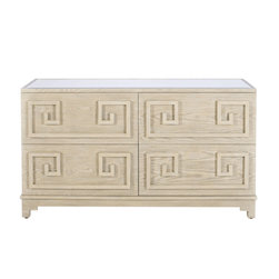 Worlds Away - Worlds Away Werstler Limed Oak 4 Drawer Dresser - Finally!! What our customers have been waiting for, a four drawer dresser that goes with our Pagoda Nightstands and Wrenfield Chest.All drawers on glides.